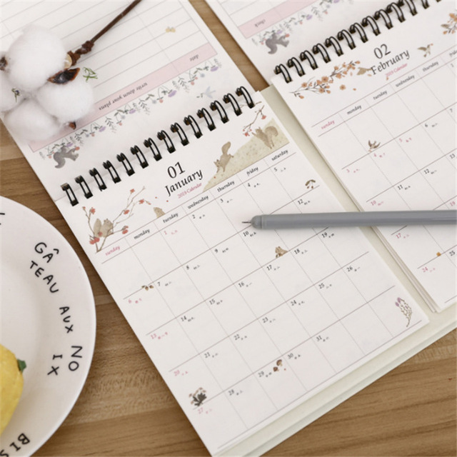 2019 Table Calendar To Do List Daily Weekly Planner Agenda Organizer