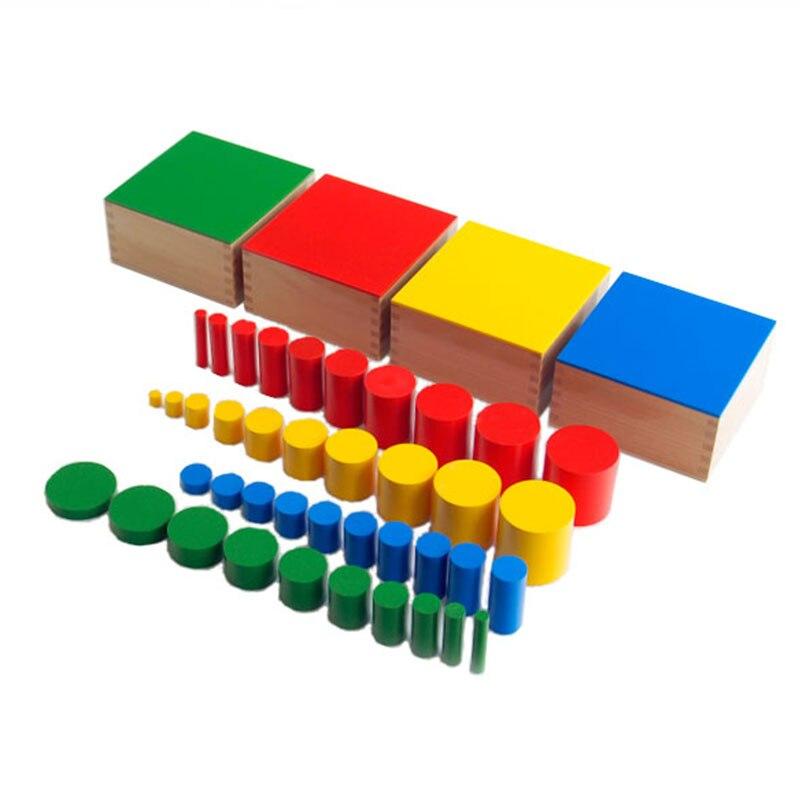 Jouet Montessori en bois bébé sens couleur cylindrique éducation apprentissage enfants jouets Juguetes Brinquedos E2364Z
