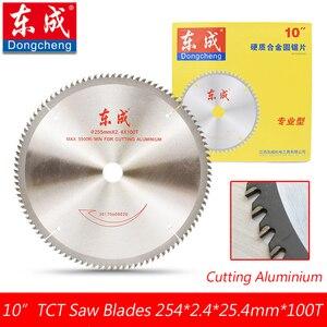 """Image 2 - 10 """"120 zębami TCT ostrza piły tarczowej do Aluminium 255mm 100 zęby pilarka stołowa ostrza do cięcia Aluminium otwór 25.4 lub 20.0mm"""