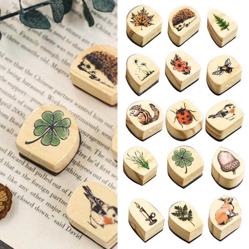 Forest Stories Series Animal Plants Wooden Stamp Handmadedecal Stamps For Scrapbooking Card Diy Stamp Photo Album Craft Gifts