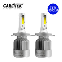 2Pcs Lot Super White LED Automobile Headlight Bulbs 36W 4000LM Bulb H4 H7 H1 H11 9005