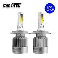 2Pcs Lot Super White LED Automobile Headlight Bulbs 36W 4000LM Bulb H4 H7 H1 H11 9005