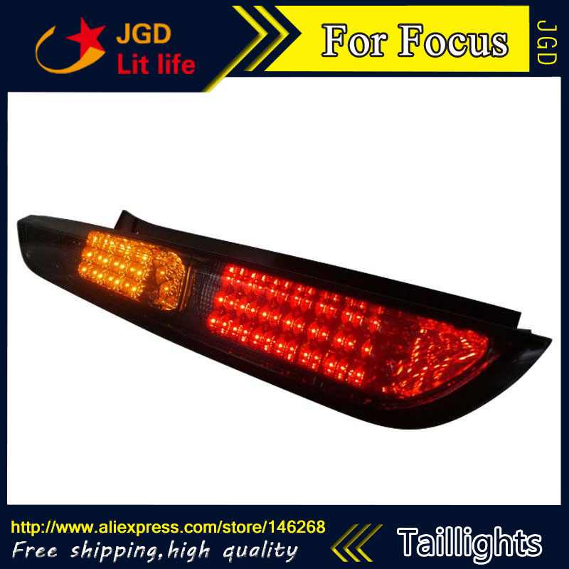 Car Styling tail lights for Ford Focus 2009-2013 taillights LED Tail Lamp rear trunk lamp cover drl+signal+brake+reverse car styling tail lights for toyota fortuner taillights led tail lamp rear trunk lamp cover drl signal brake reverse