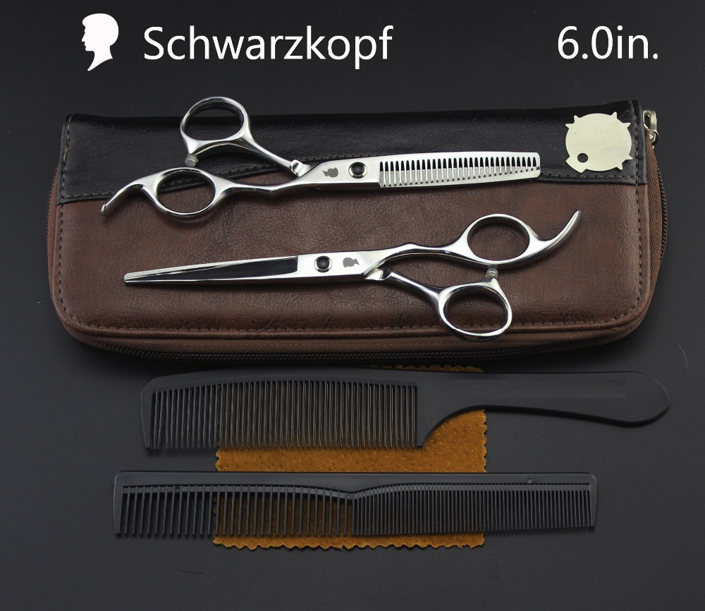 New  Profissional Hairdressing Scissors Hair Cutting Scissors Set Barber Shears  High Quality Salon 6.0inch Multi-color Optiona