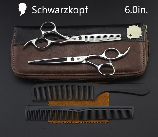 Nieuwe Profissional Kappers Schaar Haar Knippen Schaar Set Kapper Scharen Hoge Kwaliteit Salon 6.0Inch Multi color Optiona
