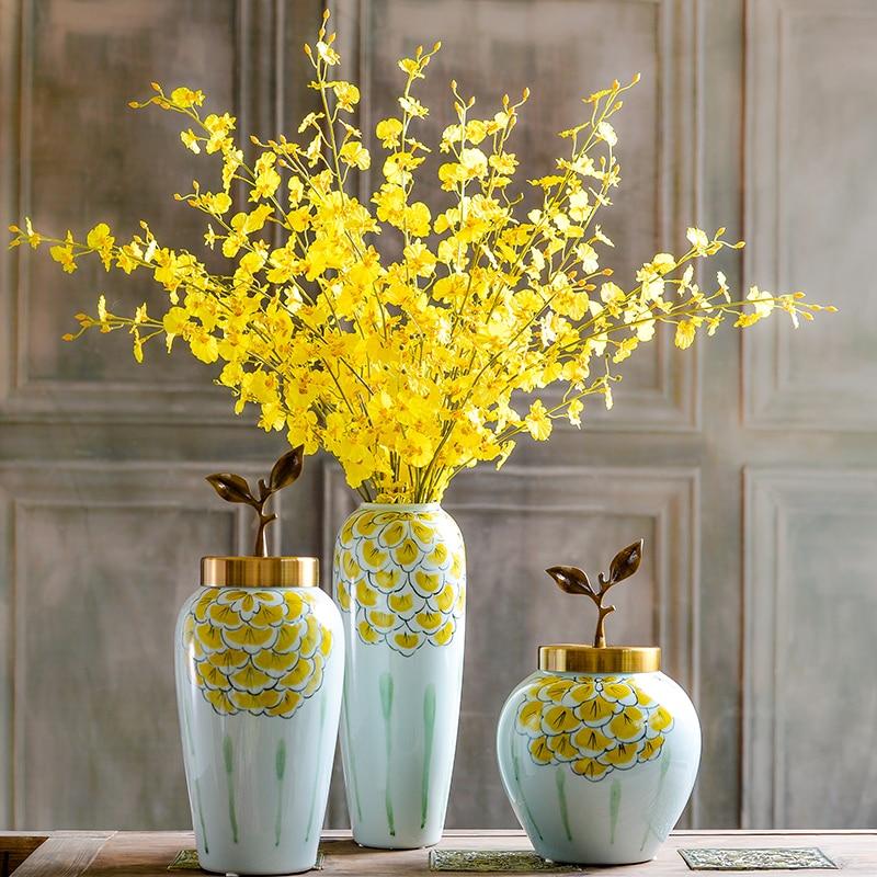 5pcs / lot galben Little Dancing-Doamna Orhidee (5 Branch / Stem) - Produse pentru sărbători și petreceri