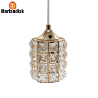 LED Crystal Pendant Lights Dining Room Lamp Gold Pendant Light Fixture Bar Dinning Room Lamp Hanging Ceiling Kitchen Lamp(DN 50)