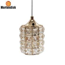 Luminária pendente led de cristal para sala de jantar, luminária dourada pendente, para bar, sala de jantar e teto, (DN 50)