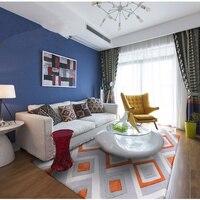 עבודת יד אקריליק שטיח בצורה אפור כתום שטיחים לסלון חדר שינה מודרני אירופאי מחצלת חדר ספת שולחן קפה