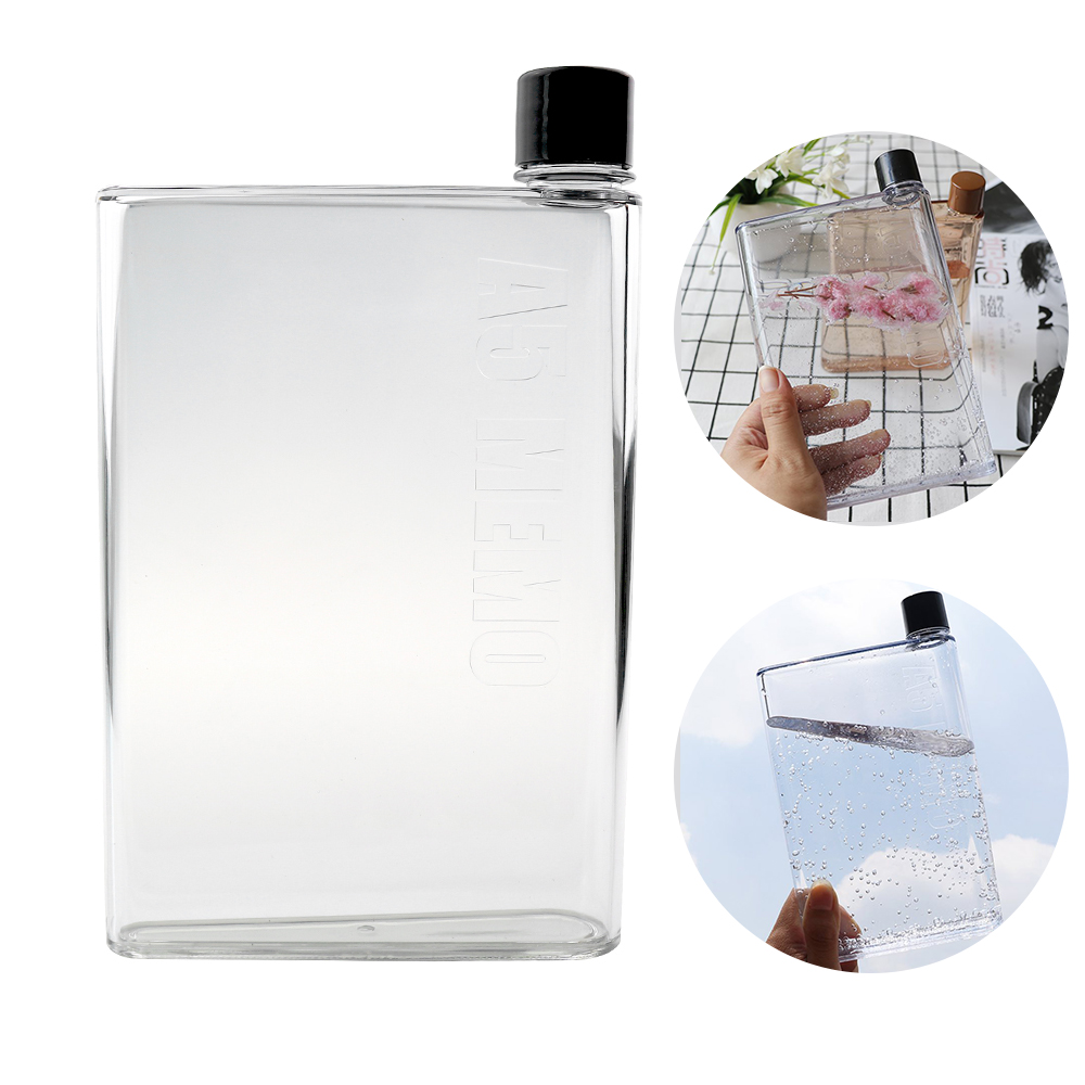 420ml/750ml crystal water bottle sports juice flat water+bottles glass mug kettle portable cup botella de agua