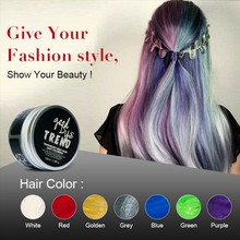 Gray Color One Time Wash Hair Color Instrant Hair Colour Fashion Hair Styling products 100ml 7Color