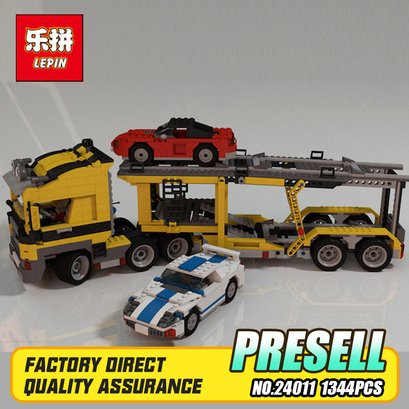 Lepin 24011 Technic Series 1344Pcs The Three in One Highway Transport Set Educational Building Blocks Brick Toys Model Gift 6753 gemlux