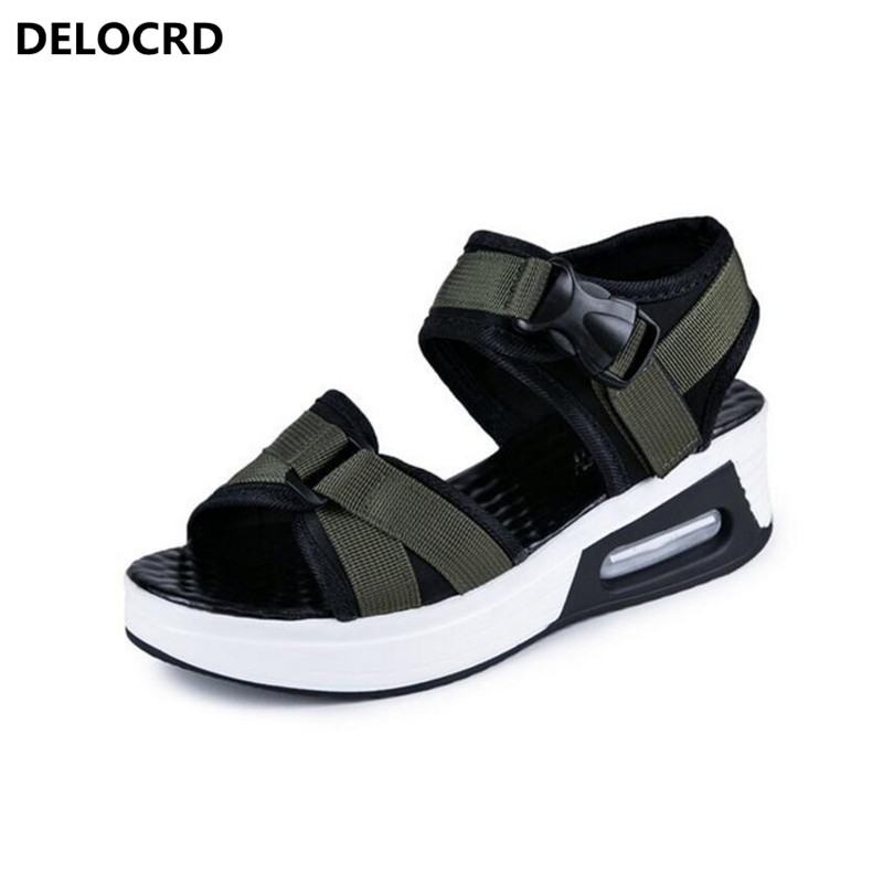 2018 Summer New Style Sandals Fashion Outdoor Sneaker Sandals Female Flat Beach Shoes Casual Shoes Flat Sandals Slippers Shoes instantarts new akita flower print women sneaker shoes animal dog pattern mesh flat shoes fashion female summer walk flats girls