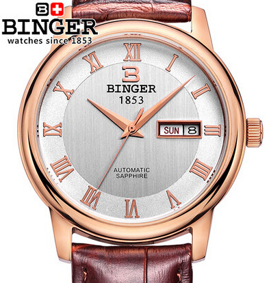 Здесь можно купить   Original Binger New Fashion Geneva casual Watch Males Golden Watches Men dress wristwatch Boy gift relogio feminino Big Discount Часы