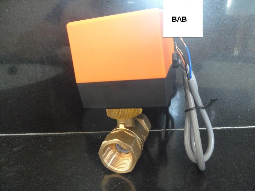 DN20(G 3/4) AC220V electric actuator brass ball valve,Cold&hot water/Water vapor/heat gas 2 way Brass Motorized Ball Valve