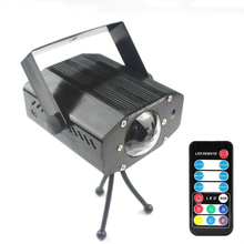 цена на 9W AC 7 Color Mini RGB LED Laser Projector Auto Flash Disco Light DMX Wireless Controller Dance Club Party Laser Stage Light