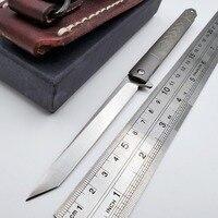 JSSQ składany nóż D2 ostrze tytanowy uchwyt kieszonkowe noże Survival taktyczny nóż myśliwski Camping przenośny Mini narzędzie edc w Noże od Narzędzia na
