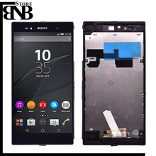 Originele 6.44 ''Voor Sony Xperia Z Ultra XL39h XL39 C6833 C6802 Lcd Touch Screen Digitizer Vergadering met frame(China)