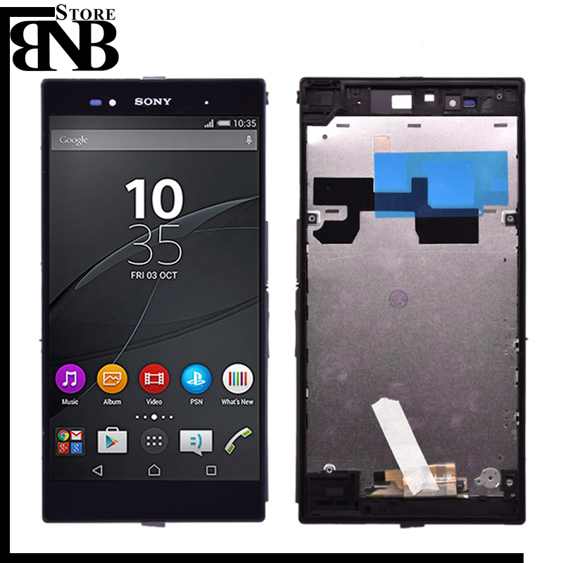 Original 6.44'' For <font><b>Sony</b></font> Xperia Z Ultra XL39h XL39 C6833 C6802 LCD Display Touch Screen Digitizer Assembly with frame image