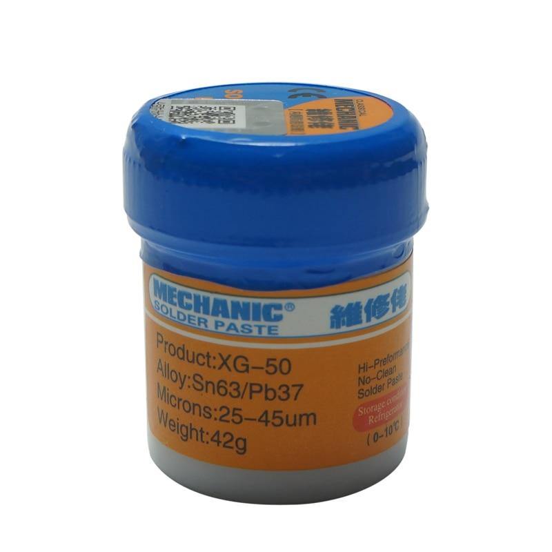 MECHANIC XG-50 Liquid Solder Paste 42g SN63/Pb37 Leaded SMD BGA SMT Stencil Welding Tool