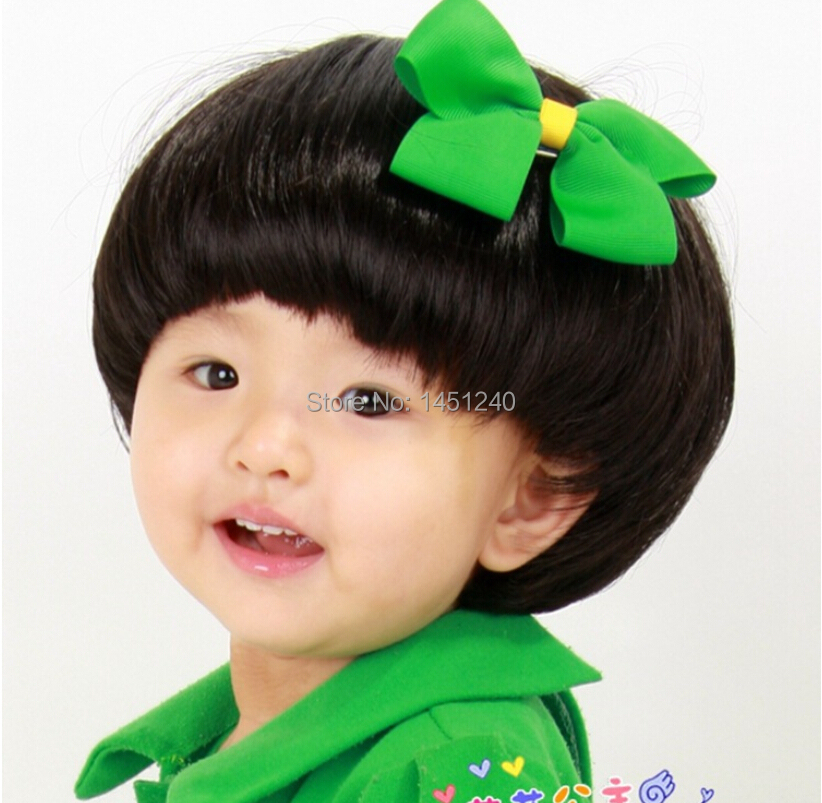 New Fashion Synthetic Hair Kids Short Straight Hair Wigs Full Lace Wigs High Quality Neat Bang Children Baby Hair Wigs 2colors Wig White Wig Syntheticwig Color Aliexpress