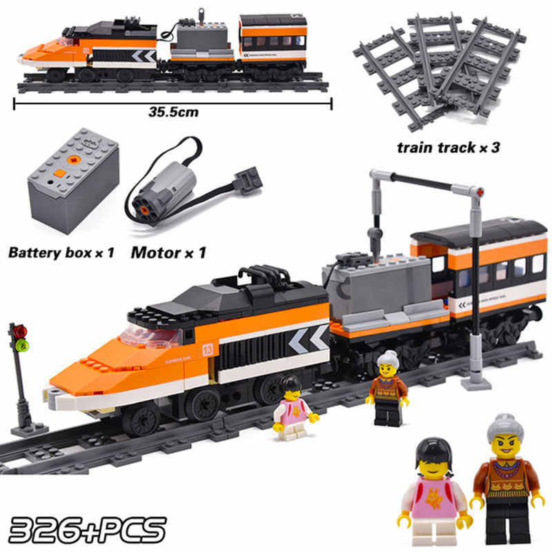 KAZI Technic Battery Powered Electric Compatible with Brand Classic Flexible City Train Rail Building Blocks Boys Toys For kid