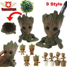 Guardians Of The Galaxy Movie Toys Flowerpot Baby Action Figures Cute Home Decor Model Toy Pen Pot Holder Vessel PVC 14cm baby groot guardians of the galaxy flowerpot action figures cute model toy pen pot best christmas gifts kids hobbies