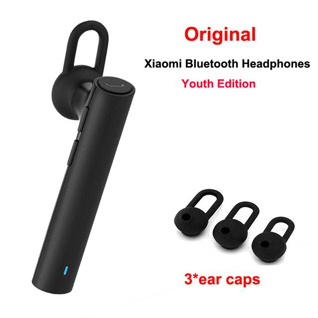 Original nuevo xiaomi auriculares bluetooth edición juventud auricular bluetooth 4.1 xiaomi mi lyej02lm construir-en el micrófono del auricular manos libres