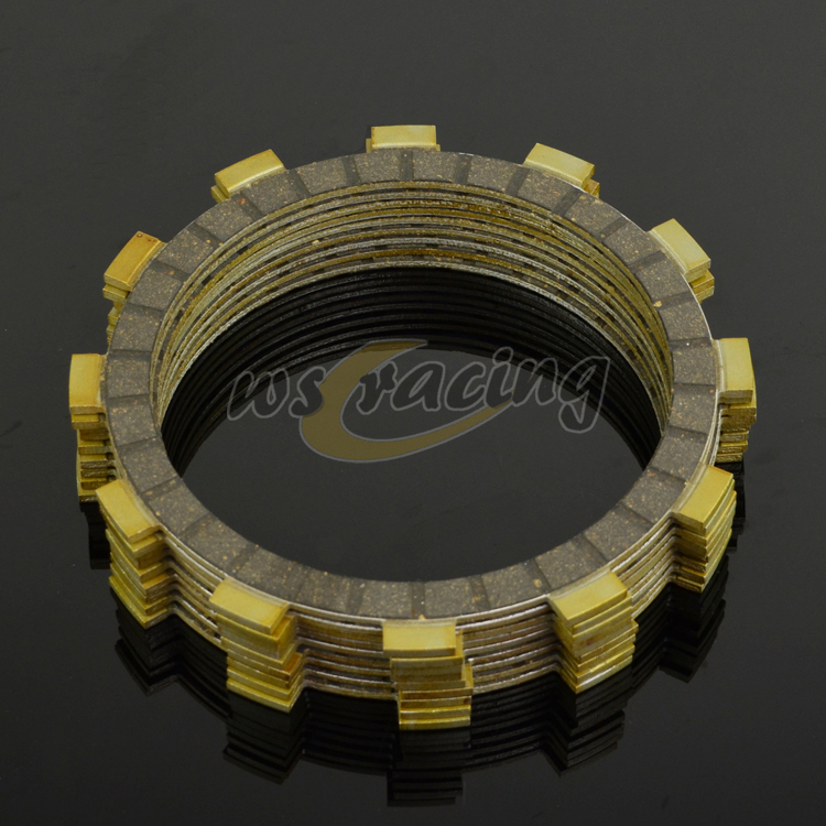 9 Pcs Motorcycle Engine Parts Clutch Friction Plates Fit For YAMAHA WR250F 01-14 YZ250F 01-15 Dirt Bike