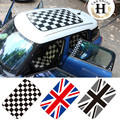 8 color Perforated Car Roof Sticker for Mini Cooper Accessories F55 F56 Countryman Checker Union Jack JCW