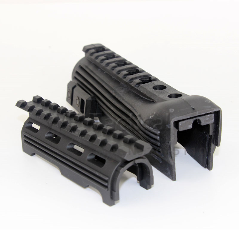 Tactical Polymer RIS Railed AK Handguard For 47 74 Series Hunting Rifle Gun Accessories Black(China)
