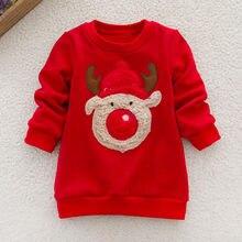 1608086a370073 Capodanno costumi per i ragazzi delle magliette di Alta qualità A Manica  Lunga Stampa costumi Di Natale Cervo Top Maglione per b.