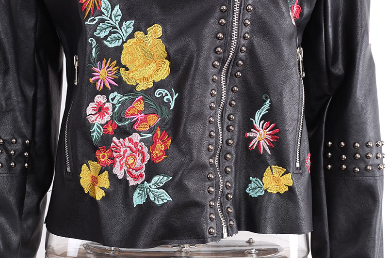 HTB1R0rSQFXXXXaeXXXXq6xXFXXXP - Floral Coat Zipper Flower Embroidered Jackets
