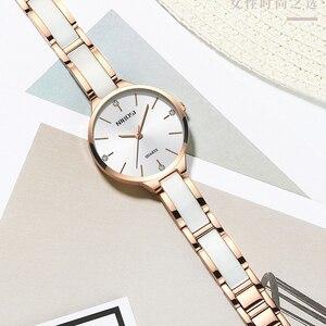 Image 2 - NIBOSI Vrouwen Horloges Armband Horloge Dames Polshorloge Vrouwen Waterdichte Fashion Casual Crystal Dial Rose Gold Relojes Para Mujer
