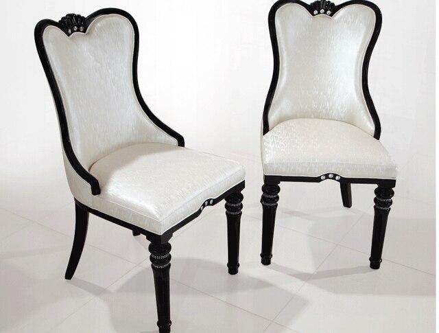Настоящее деревянный стул мягкий пакет Корейский контракт ногтей мода ресторан отеля чехлы на стулья кресла ешьте белый черный встречи