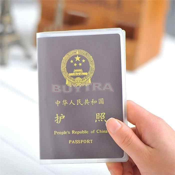 1 Uds nuevo transparente 2019 pasaporte cubierta impermeable pasaporte bolsas protector del pasaporte manga tarjeta titular