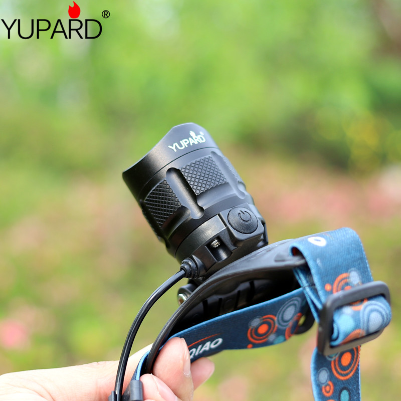 Купить с кэшбэком yupard USB charging zoomable headlight XM-L2 T6 LED bright Headlamp output power rechargeable camping zoom lantern power bank