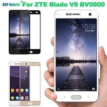Полное покрытие для zte Blade V8 glass V 8 BV0800 5,2 дюйма, защитное закаленное стекло для zte Blad v8, Защитная пленка для экрана