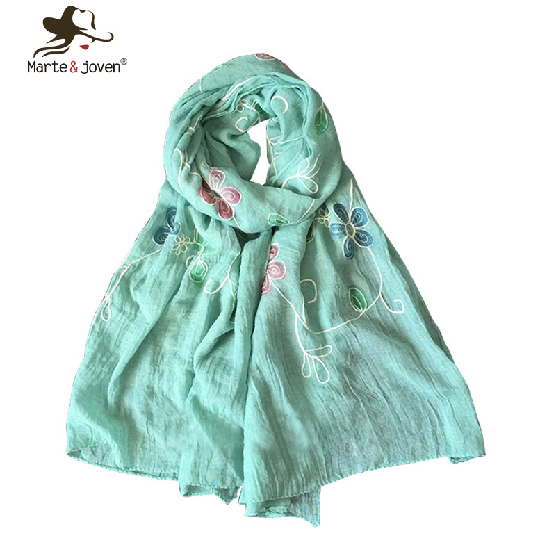 Ethnic Style Floral Embroidery Scarfs and Shawls Simple Desis