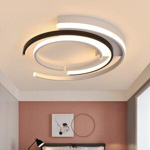 Image 3 - Lustre de plafond plafonnier moderne Modern LED Luzes de Teto sala de estar Quarto luminária Branco Preto LEVOU Rodada Lâmpada Do Teto