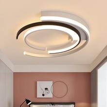 זוהר de plafond moderne מודרני LED תקרת אורות חדר שינה סלון luminaire plafonnier שחור לבן מנורת תקרה הובילה עגול
