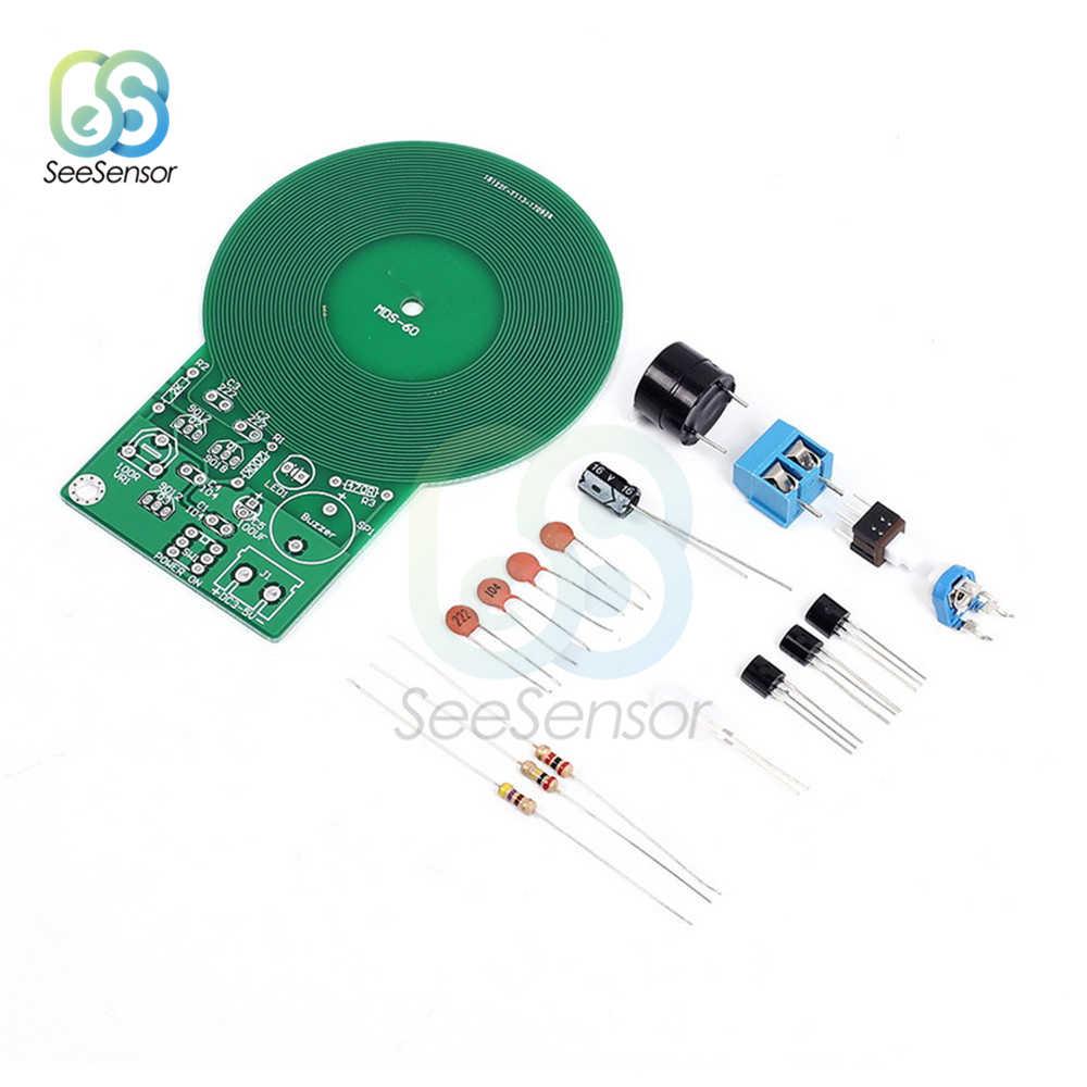 Kit de bricolage détecteur de métaux Kit cc 3 V-5 V 60mm capteur sans contact panneau Module bricolage pièce électronique détecteur de métaux Kit électronique