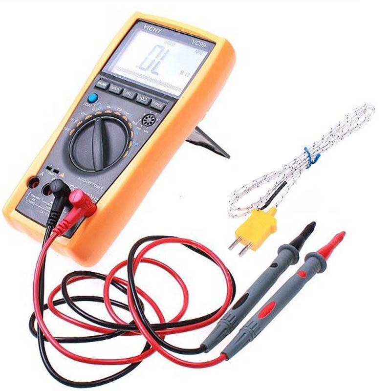 Digital Multimeter LCD Fluke Auto Range Tester Vichy VC99 3 6/7 Capacitance Temperature Autorange Multimeter Better FLUKE 17B