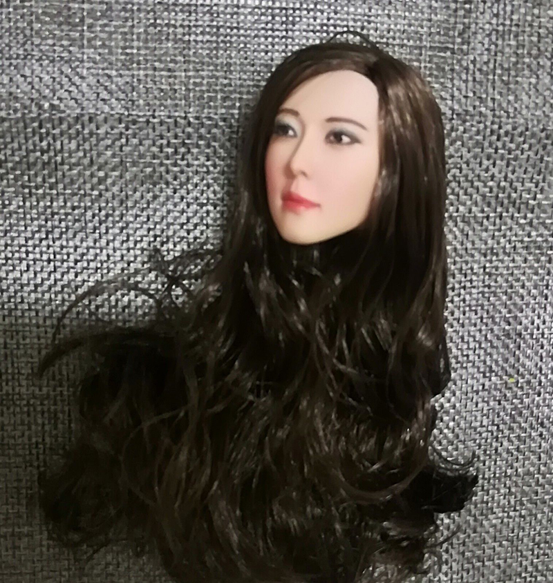 1//6 Female Asie Star Head Sculpt Black cheveux pour PHicen TBLeague Figure