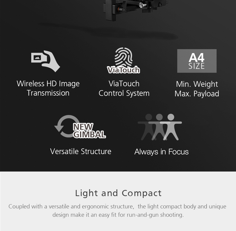 Zhiyun WEEBILL LAB 3-Axis OLED Display Stabilizer For Sony Panasonic GH5s Mirrorless Camera Handheld Gimbal With Focus Control 2