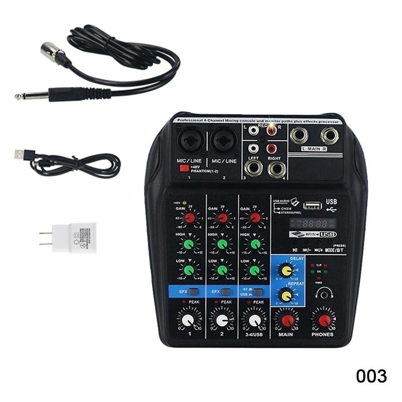 Mini amplificateur de mixage Audio USB carte Bluetooth 48 V alimentation fantôme 4 canaux pour DJ karaoké BB55