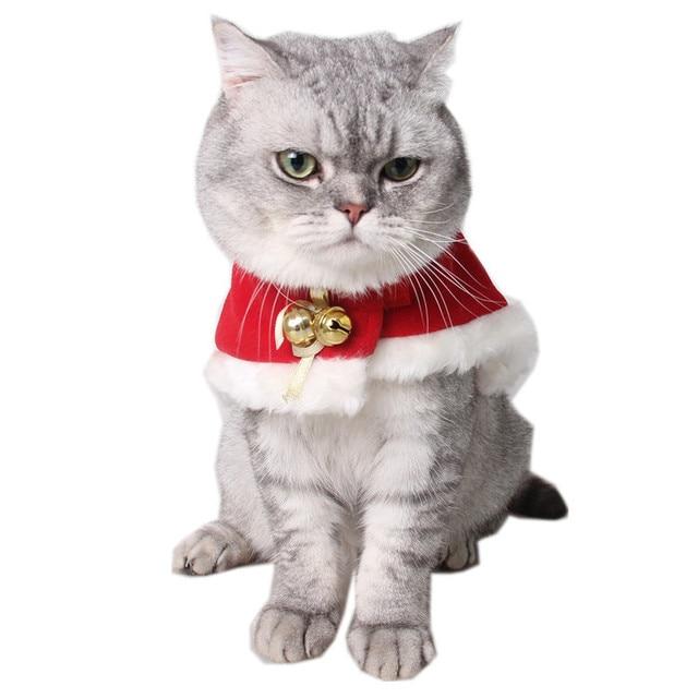 8b5671ab887d Vigilia di natale Mantello partito Pet forniture Gatto vestiti Caldi Rosso  Mantello di Velluto