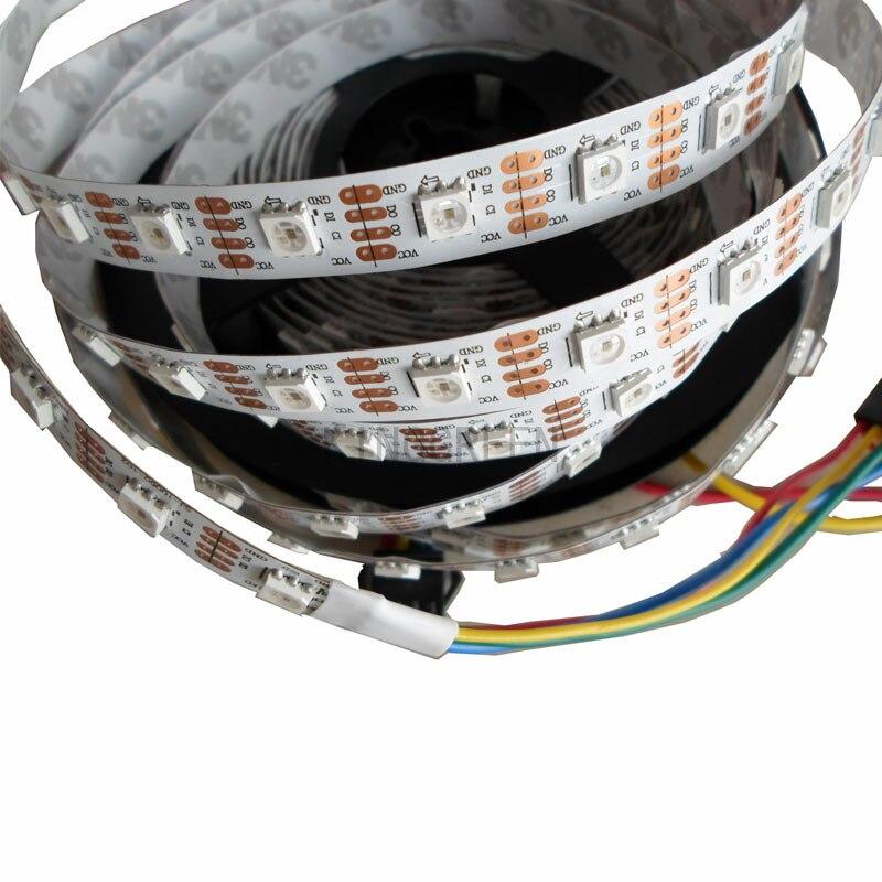 5mX vollfarbe SK9822 DC5V eingang 5050SMD RGB digital flexible geführte streifen licht 30/32/48/60/72/144LED/m WEIß PCB kostenloser versand