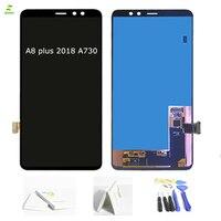 A8 Plus SUPER AMOLED Полный ЖК дисплей Дисплей для SAMSUNG Galaxy A8 плюс 2018 A730 A730x ЖК дисплей Дисплей заменой сенсорный дигитайзер черный