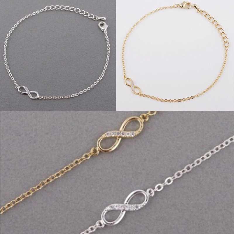 Nowy wysokiej jakości 8 słowo bransoletka moda śliczne bransoletka damska Micro serce wisiorki rozszerzony łańcuch biżuteria